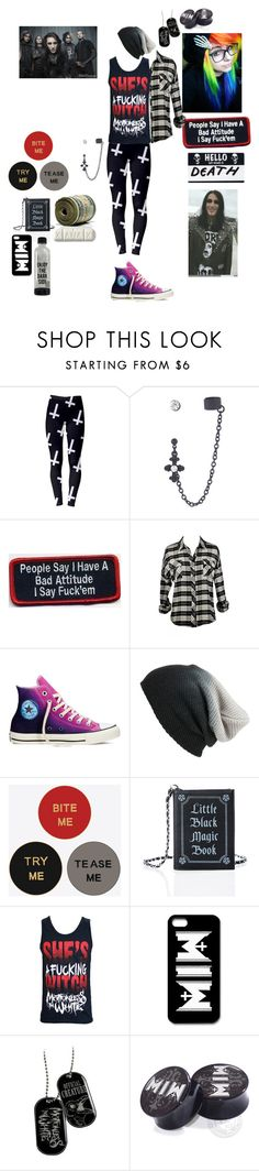 """""""Warped Tour Seeing Motionless In White."""" by deadovertrouble666 ❤ liked on Polyvore featuring Converse, BP., Yves Saint Laurent, Sola and Current Mood"""