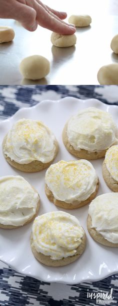 Cream Cheese Frosted Lemon Cookies recipe   Inspired by Charm