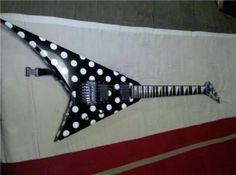 polka dots Jackson guitar
