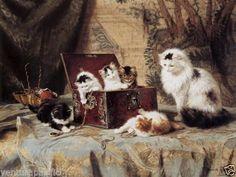 Fond-of-Jewellry-kittens-Henriette-Ronner-Knip-c1899-Fine-Giclee-Print