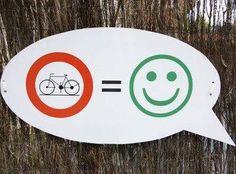 Biking makes me happy!