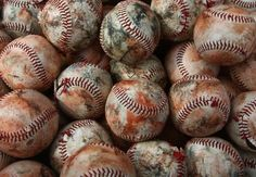 How come I never find stuff like this to take pictures of? How did the baseballs get so dirty? Is it real or photoshop?