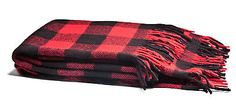 Park Designs Buffalo Check Red & Black Cotton Throw Blanket