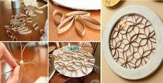 Κατασκευές με Ρολό Χαρτιού Rolled Paper Art, Arts And Crafts, Crafty, Blog, Toilet Paper Rolls, Craft, Paper Envelopes, Blogging, Art And Craft