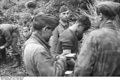 "France, German soldiers (""soldiers"") in a lull after the invasion, Summer 1944"