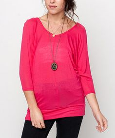 This Fuchsia Honey Dolman Tee by Caralase is perfect! #zulilyfinds