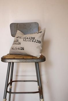 Numbers pillow, etsy