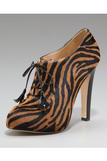 Booties Shoes with Lace Stockings | Charlotte Olympia Mrs Simpson in Animal (leopard) | Lyst