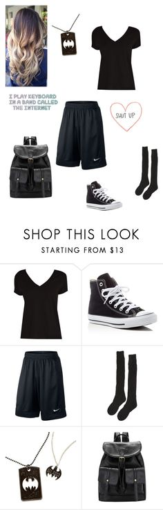 """""""School"""" by animegirllover ❤ liked on Polyvore featuring Converse, NIKE and Samantha Holmes"""