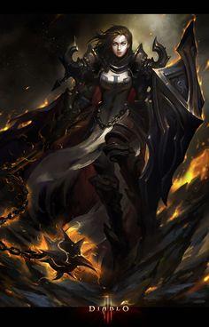 senseorsensuality: Diablo III fan art by sun haiyang