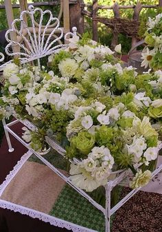 Green and white garden florals | Françoise Weeks Floral, Fritz Photo