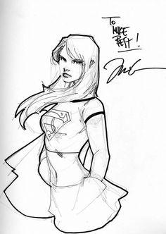 Supergirl by Jim Lee Comic Art