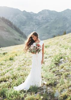 I really like this... Causal, natural beauty. The Perfect Dress: Our Bride Madison