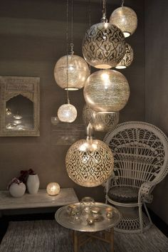 Inspirations for interior decoration at Maison & Objet Paris ., Inspirations for interior decoration at Maison & Objet Paris Morrocan Decor, Moroccan Lanterns, Moroccan Bedroom Decor, Moroccan Room, Moroccan Theme, Chinese Lanterns, Stair Lighting, Boho Lighting, Moroccan Lighting