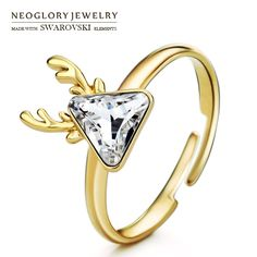 Vind meer ringen informatie over Neoglory Oostenrijk Crystal Verstelbare Ring…
