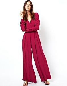 Image 4 of ASOS 70's Jumpsuit with Wide Leg