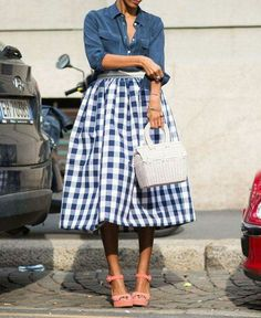 Most ginormeous gingham skirt