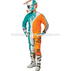 Full Customized child motocross gear high quality ink and technical sublimated jersey and pant