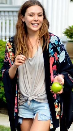 Silk Floral Short Kimono. I love my kimono with cut-offs and boots or flats.