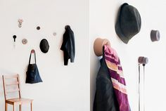 """bop"" silicone wall mounted hangers"