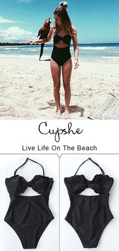"""Treat Yourself to Something Special. Enjoy the beach fun like funny """"covfefe"""". You literally can't resist this swimwear! The style is perfect for summer! The open, strappy back and the light fabric make this one-piece so breezy and light! Check it out."""