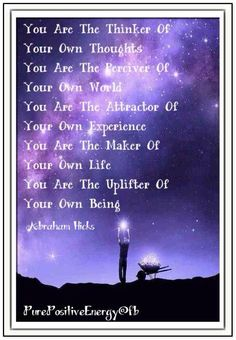You are the thinker of your own thoughts
