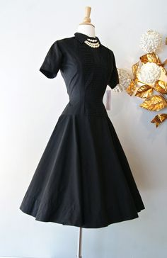 50s Dress // Vintage 1950s Anne Fogerty Cotton by xtabayvintage, $148.00