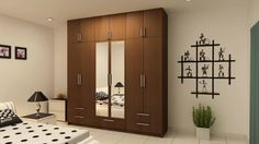 Stylish and elegant bedroom wardrobe designs from customfurnish. Customize sliding glass door wardrobes, Plywood wardrobes, Mdf wardrobes and particle board wardrobes. Cupboard Design, Home Decor Bedroom, Wardrobe Design Bedroom, House Design, Bedroom Furniture Design, Home Decor Furniture, Master Bedrooms Decor, Ceiling Design Bedroom, Furniture Design