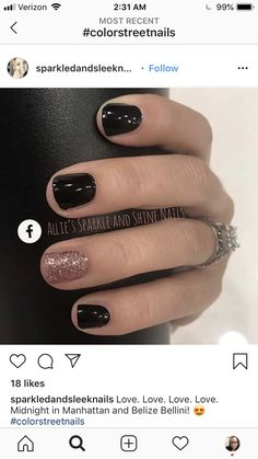 Midnight in Manhatten, Belize Bellini Fabulous Nails, Gorgeous Nails, Love Nails, How To Do Nails, Pretty Nails, Cute Simple Nails, Lorie, Dipped Nails, Colorful Nail Designs