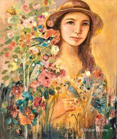 """Blossoming"" by Shijun Munns, oil on canvas 2014 Spiritual Garden, Original Art, Original Paintings, Oil On Canvas, Canvas Prints, Spring Art, Spring Painting, Oil Painters, Fine Art Gallery"