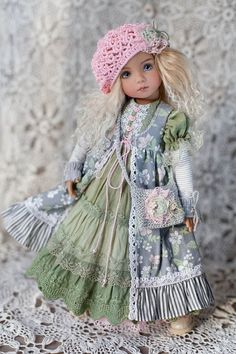 Clothes for doll Little Darling by Dianna Effner Multilayer Girl Doll Clothes, Barbie Clothes, Girl Dolls, Baby Dolls, Baby Dress Patterns, Doll Clothes Patterns, Pretty Dolls, Beautiful Dolls, Diy Tulle Skirt