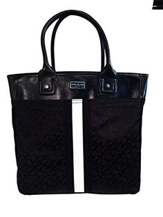 Womens Tommy Hilfiger Handbags Lg Tommy Black * Learn more by visiting the image link.