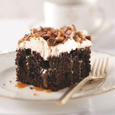 Toffee Poke Cake Oh My. That looks TASTY!! I HAVE to make this!