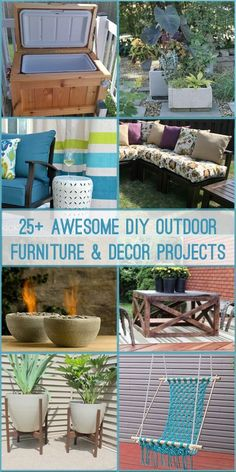 Create A Comfortable Family Friendly Backyard E For Entertaining With These Diy Outdoor Furniture And Decor Project Tutorials