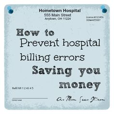 Save money on your medical bills with these simple tips