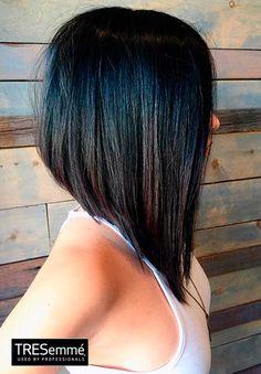 Asymmetrical Bob Black Straight Hair  TRESemmé