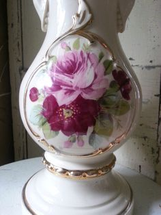 Gorgeous Shabby Chic Vintage Rococo Lamp