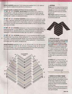 Jersey terminado en pico instrucciones - Patrones Crochet