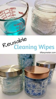 We go through so many paper towels and Clorox wipes daily, the cost can add up. So, I decided to start making my own reusable wipes. I went to a local dollar store and got a variety of wipes… Cleaning Hacks Tips And Tricks, Safe Cleaning Products, Deep Cleaning Tips, House Cleaning Tips, Diy Hacks, Cleaning Recipes, Green Cleaning, Cleaning With Bleach, Baking Recipes