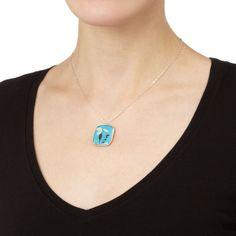 Birth Month Flower Necklace, $48, by Shari Dixon