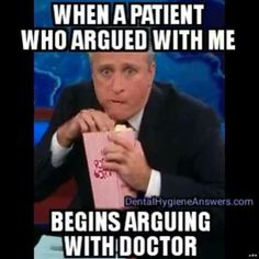 Arguing patients