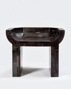 """""""Curial Chair"""" by Rick Owens, Petrified Wood. Art Furniture, Furniture Design, Brutalist Furniture, Concrete Furniture, Concrete Wood, Rick Owens, Lighting Concepts, Ottoman Stool, Modern Stools"""