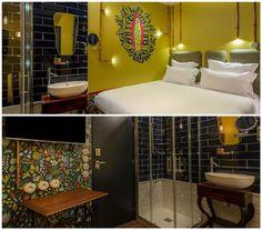 Les chambres psychédéliques de l'Hôtel Exquis.