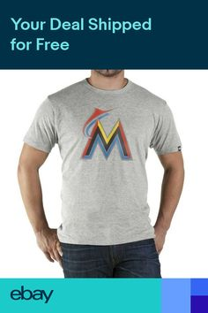 Official 47 Brand Miami Marlins Derby Mens T-shirt 1dd0cade1964