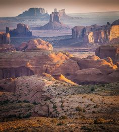 """Monument Valley (Utah) -we drove a few hundred miles out of the way on our planned RV trip just so my husband could see this....it was totally worth it! It is an amazing drive thru that valley! Also, now when he watches old Westerns, he says, """"Hey! We saw that!!"""""""