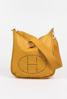 Hermes Vintage Yellow Courchevel Leather H Evelyne I GM Bag – Luxury Garage Sale