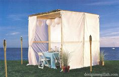Sukkah Inspiration-a beach themed sukkah. Sukkot.  Jewish Holiday Inspiration
