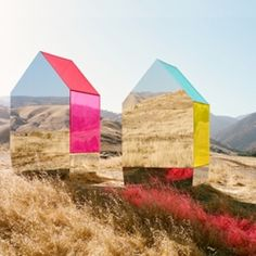 Seemingly floating Monopoly-like mirror houses designed by photographer and creative director Autumn De Wilde, plus a roundup of magical mir...
