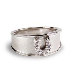 Kelly Herd horseshoe designer ring