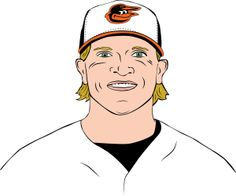 O's breakout star Nate McLouth | Baltimore magazine Illustration by Lauren Giordano